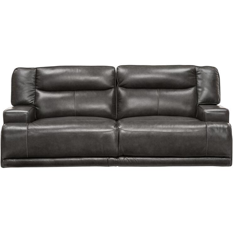 Slumberland Furniture Tompkins Gray Power Reclining Sofa