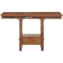 Sedona Rustic Oak Adjustable Height Table