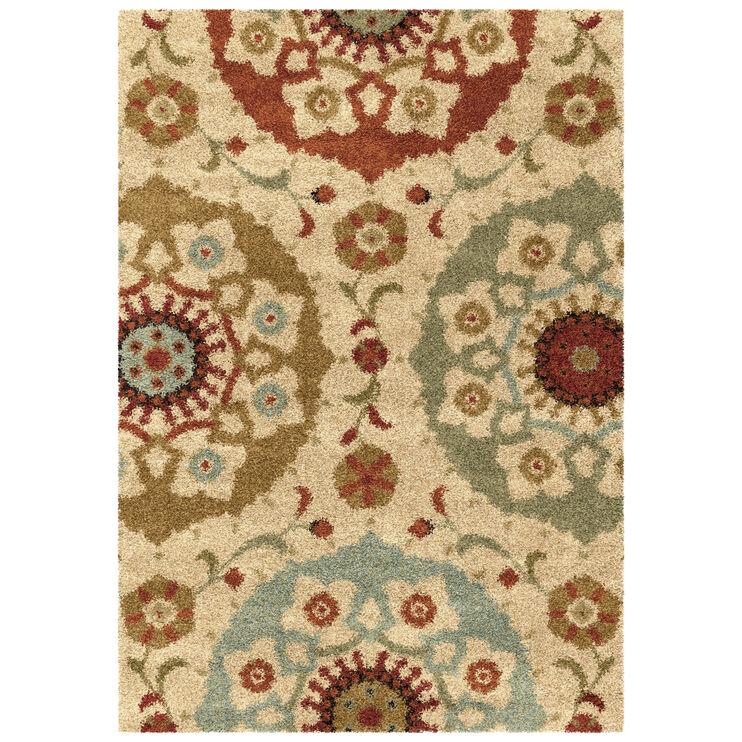 Wild Weave Multi Color Suzani Circles 8 x 11 Rug