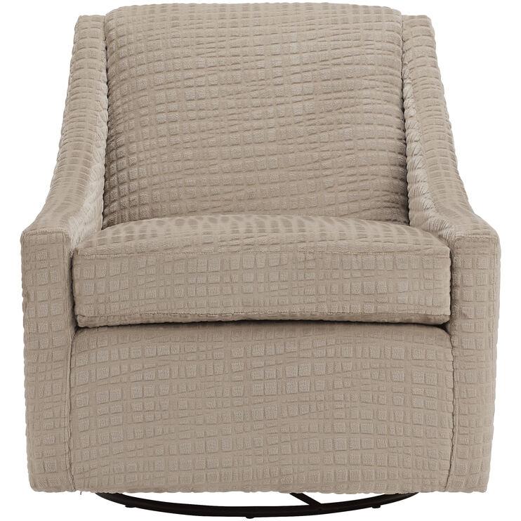 Pleasing Regan Jute Swivel Glider Accent Chair Slumberland Furniture Evergreenethics Interior Chair Design Evergreenethicsorg