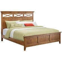 Hearthside Oak Queen Panel Bed