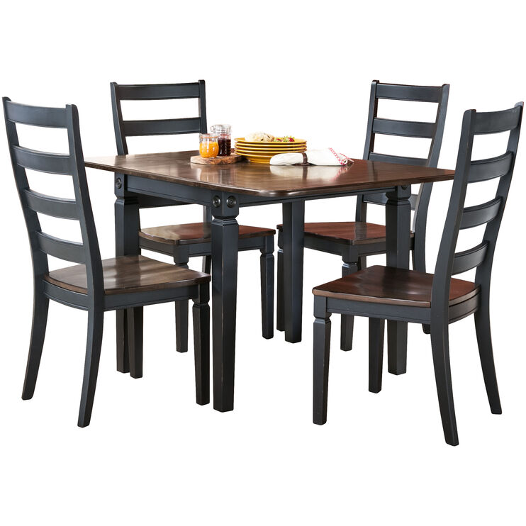 Glennwood 5 Piece Black Dining Set