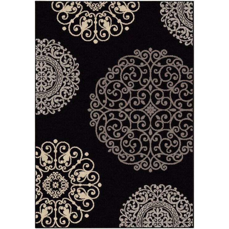 Epiphany Fernandez Black 5 x 8 Rug