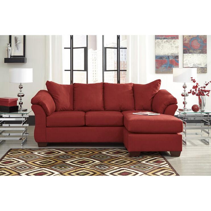 Marcy Salsa Chaise Sofa