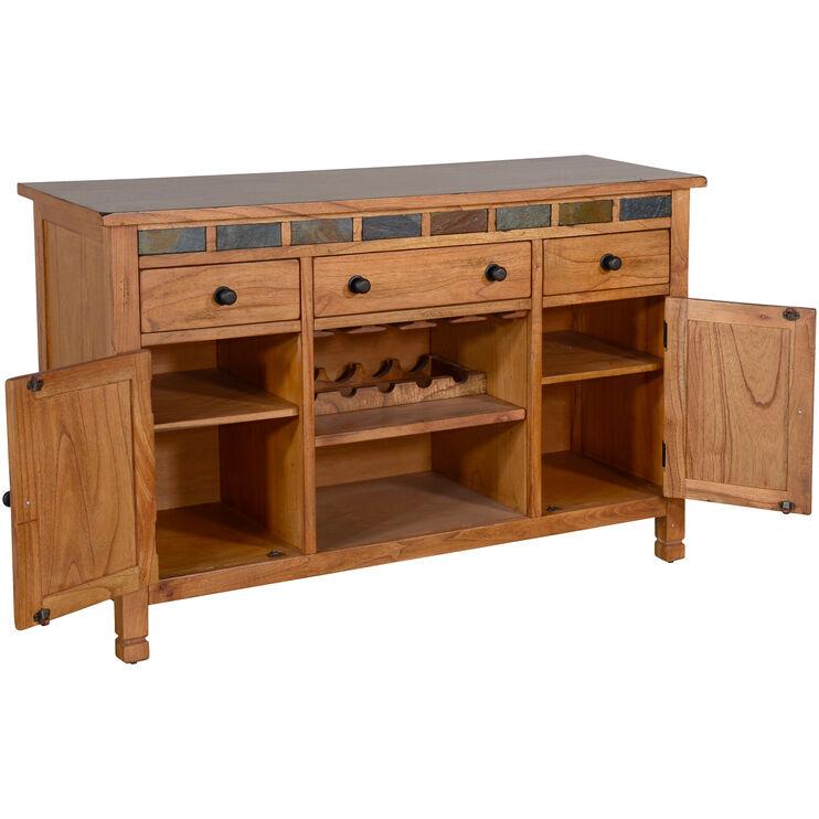 Sedona Rustic Oak Buffet