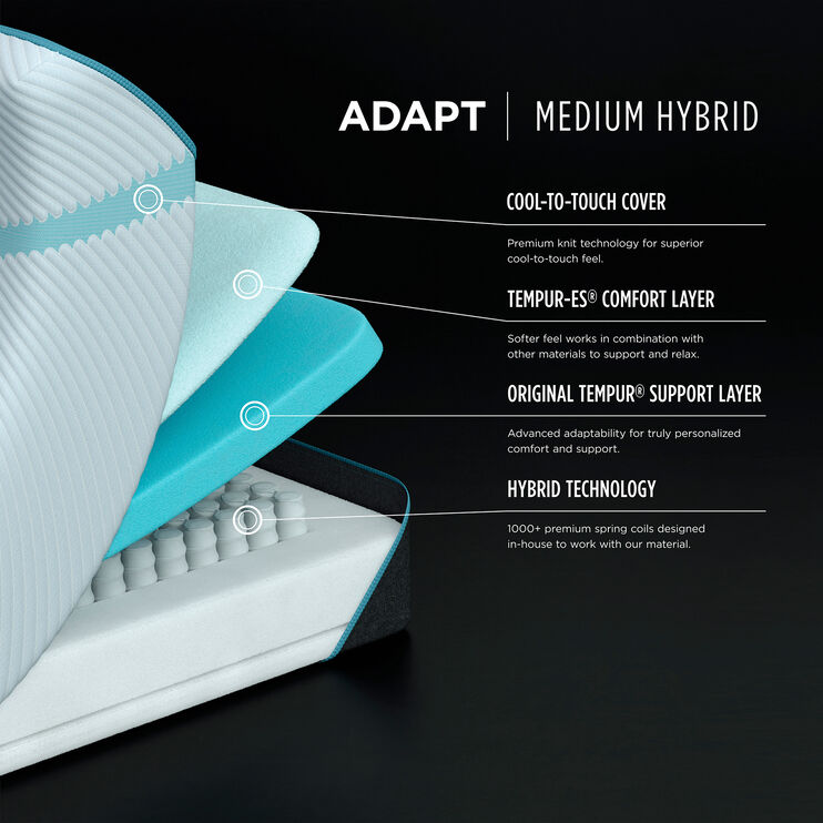 Tempur-Pedic Adapt Medium Hybrid Queen Mattress