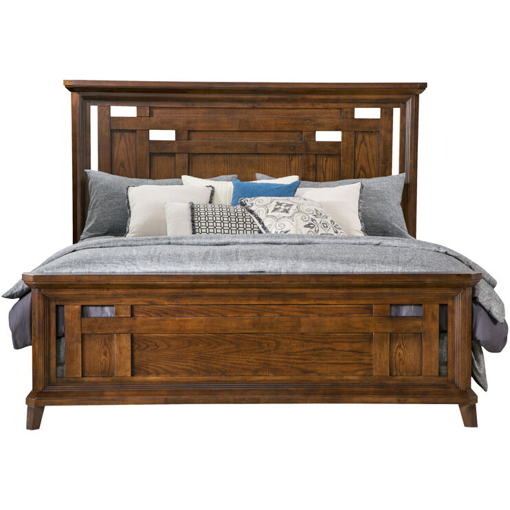 Acorn Hill Brown King Bed