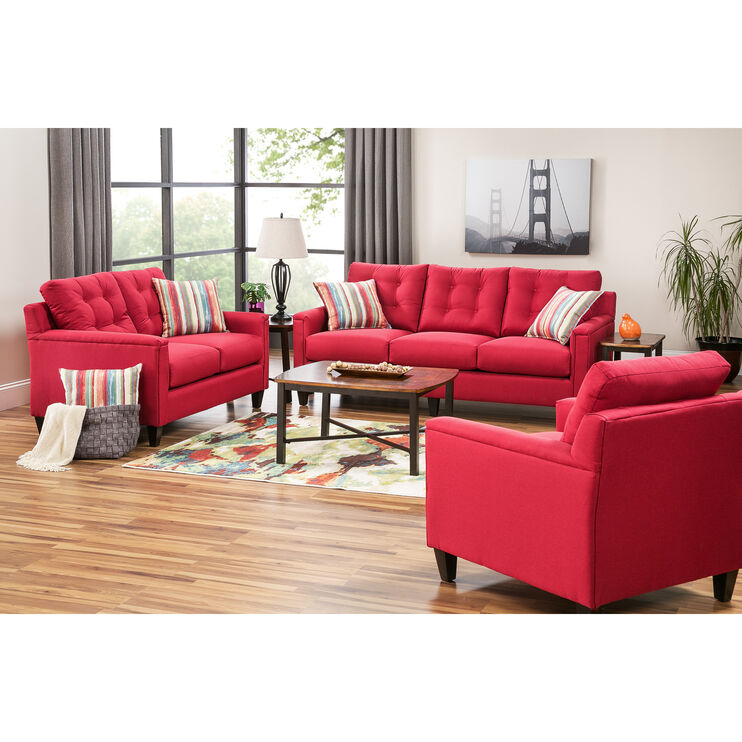 Slumberland Furniture Platte Red Sofa