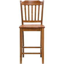Platinum Oak 30 Inch Slat Counter Stool