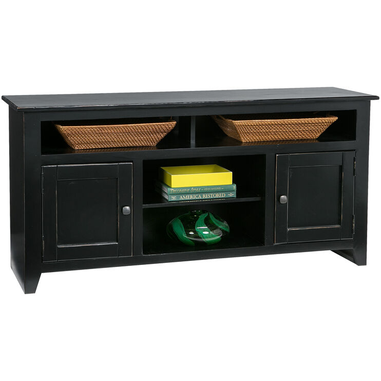Wrigley Black 2 Door Console