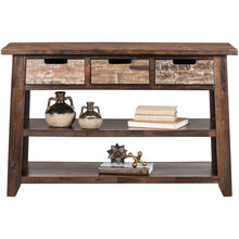 Painted Canyon Chestnut Console Table
