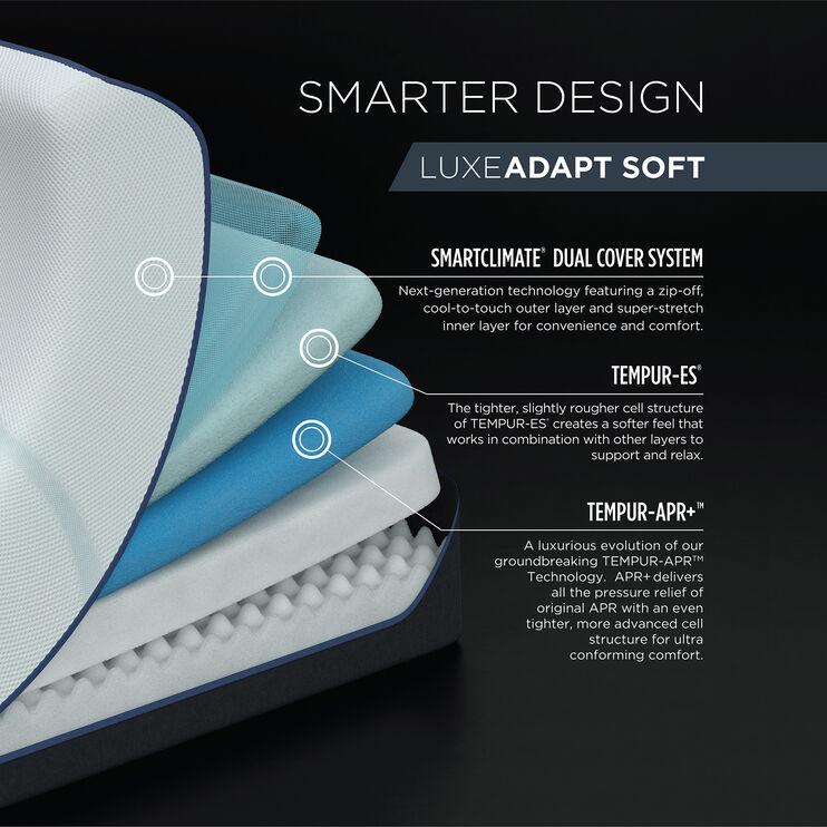 Tempur-Pedic Luxe Adapt Soft Queen Mattress
