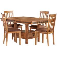 Sedona 5 Piece Rustic Oak Dining Set