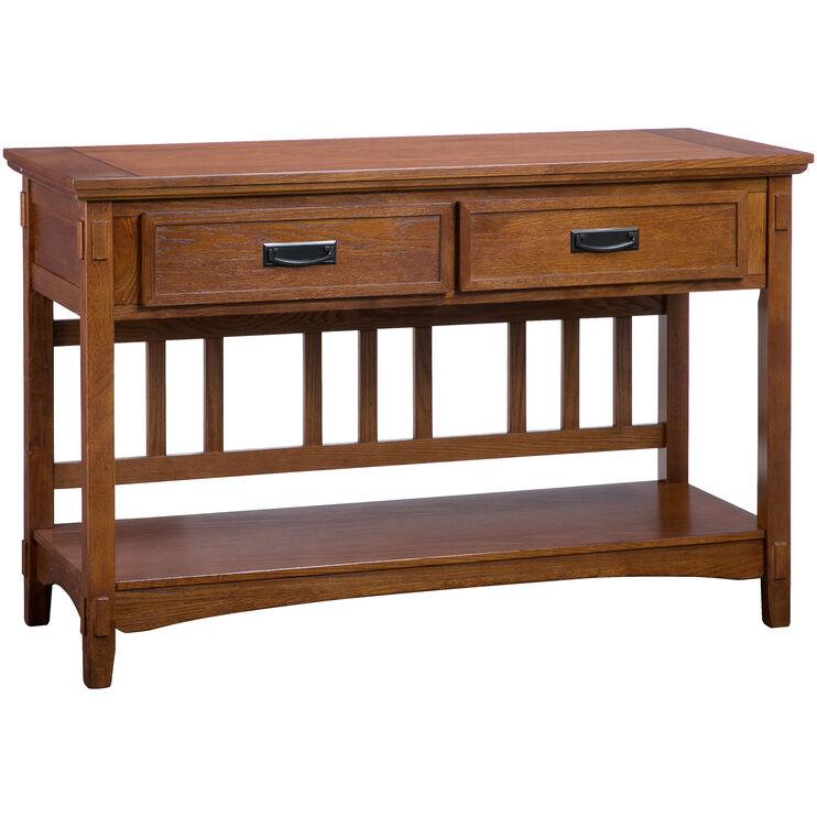 Cross Island Medium Oak Sofa Table