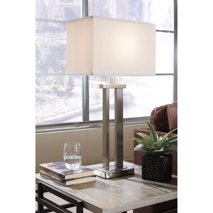 Aniela Pair of Silver Table Lamps
