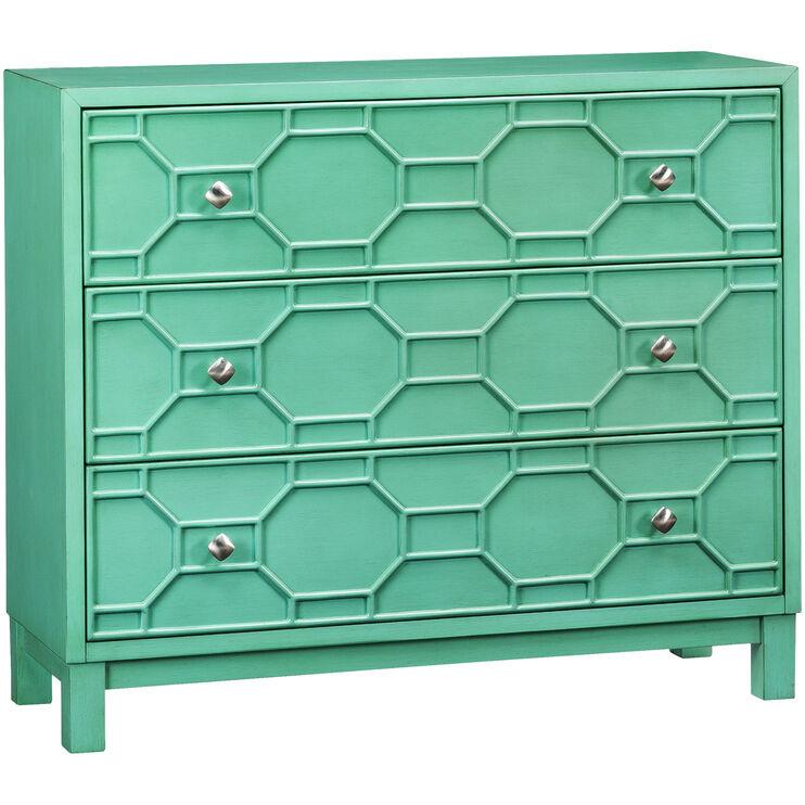 Matrix Turquoise 3 Drawer Chest