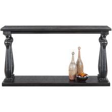 Mallacar Black Plank Console Table