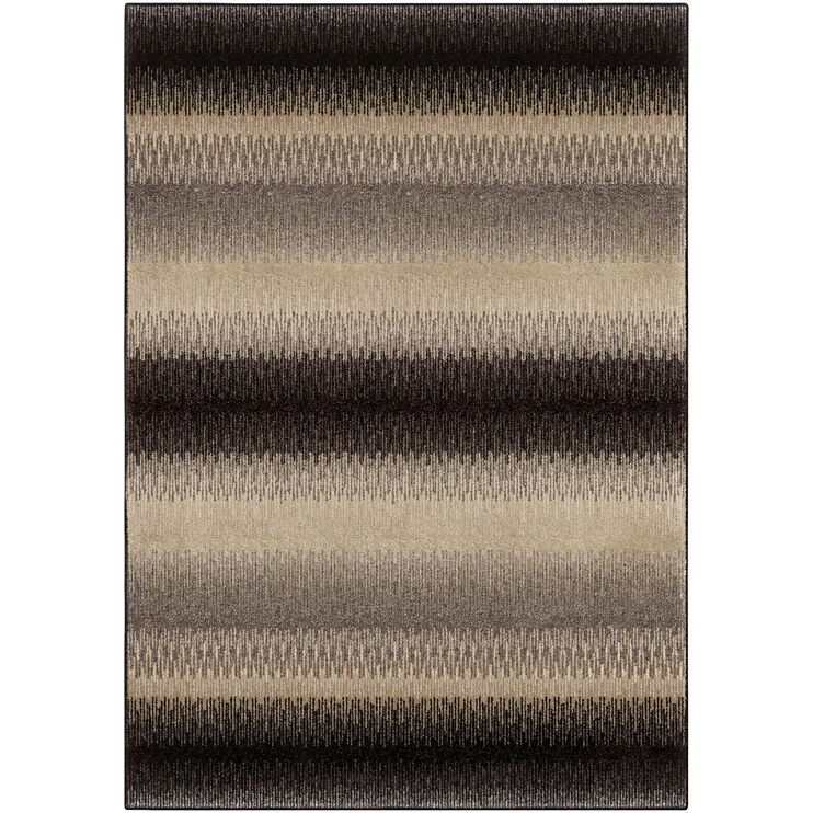 Heritage Fresco Brown Stripe 5 x 8 Rug