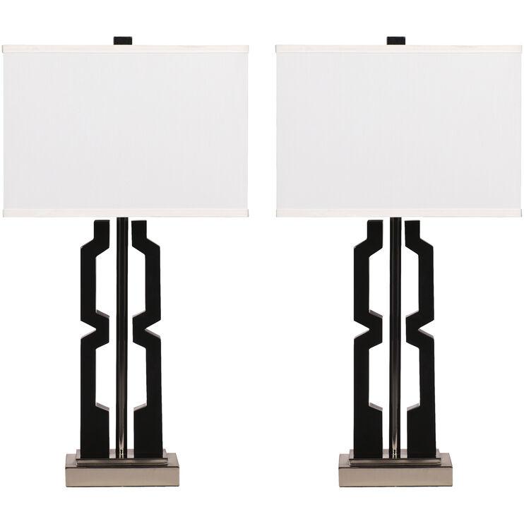 Mitzi Black Set of 2 Table Lamps