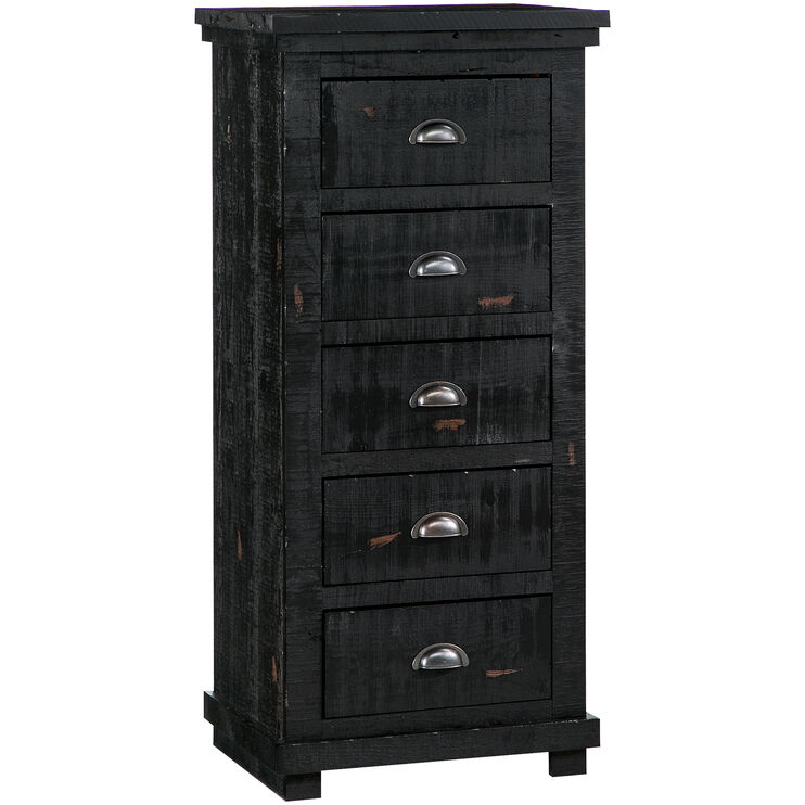 Willow Distressed Black Lingerie Chest
