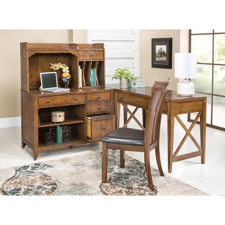 Hearthstone Oak 4 Piece Corner Desk