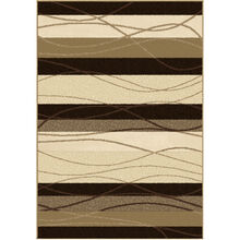 Four Seasons Tonal Stripe Brown 5 x 8 Rug