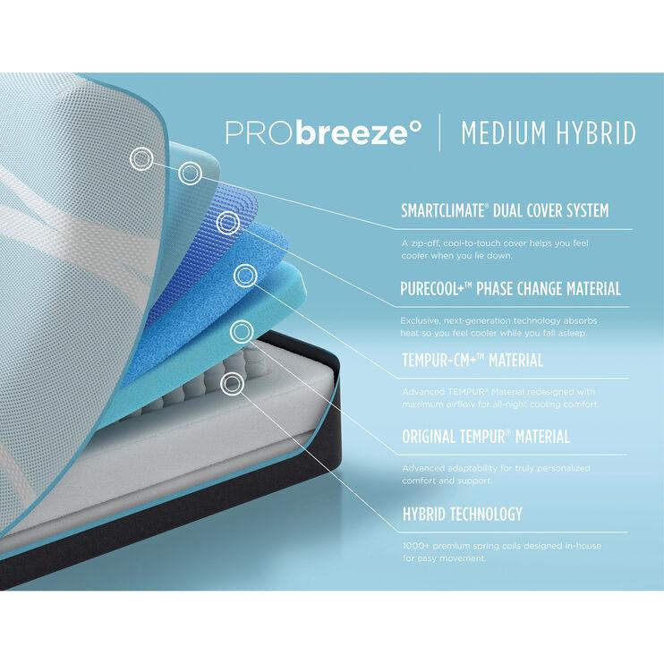 Tempur-Pedic Pro Breeze Medium Hybrid Twin XL Mattress