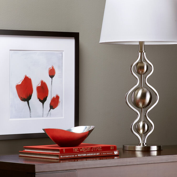 Olena Brushed Steel Table Lamp