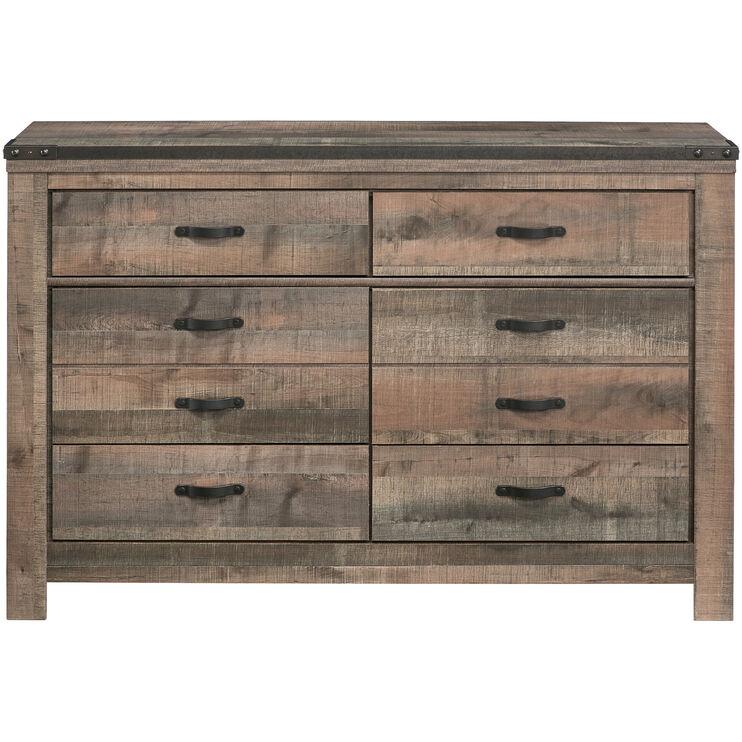 Trinell Rustic Plank Dresser