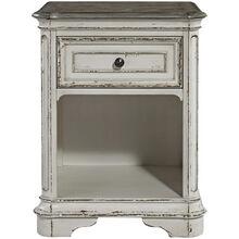 Magnolia Manor White One Drawer Nightstand