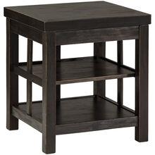 Gavelston Black Two Shelf End Table
