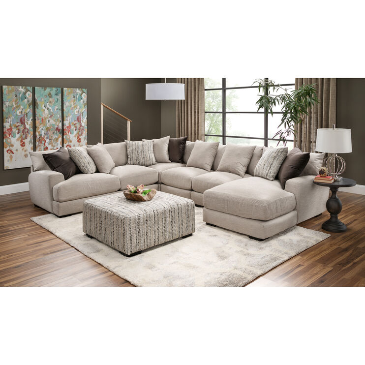 Wake 5 Piece Right Chaise Sectional