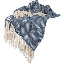 Cozy Navy Cotton Throw