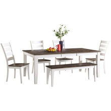 Kona Gray 5 Piece Ladder Back Dining Set