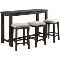 Stone Bar Table with 3 Stools