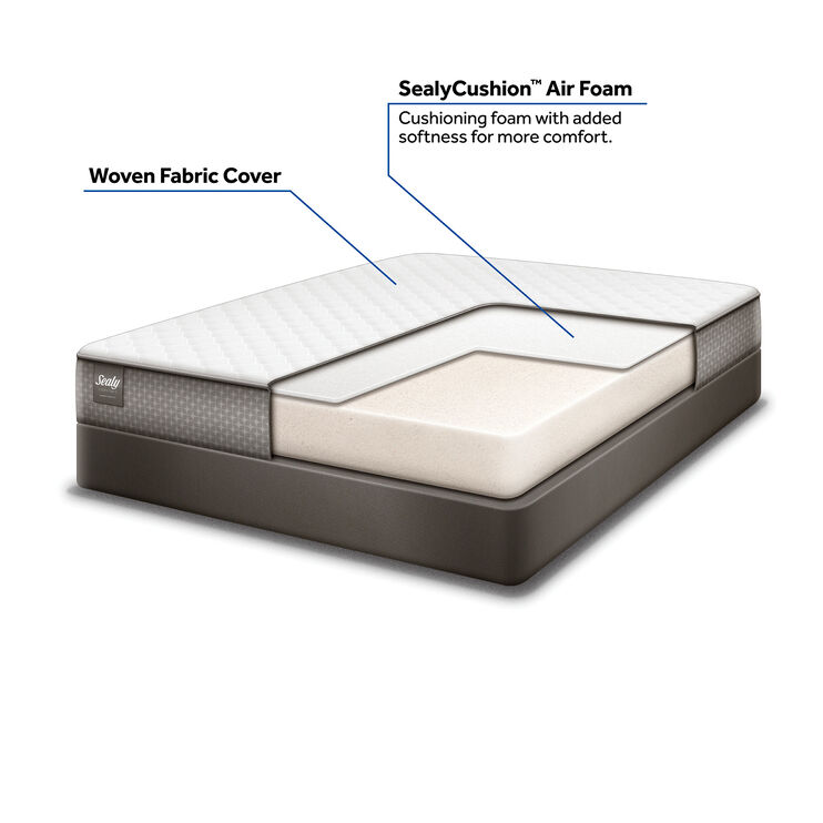 Sealy Harriet II Firm Queen Mattress and Low Profile Foundation Set