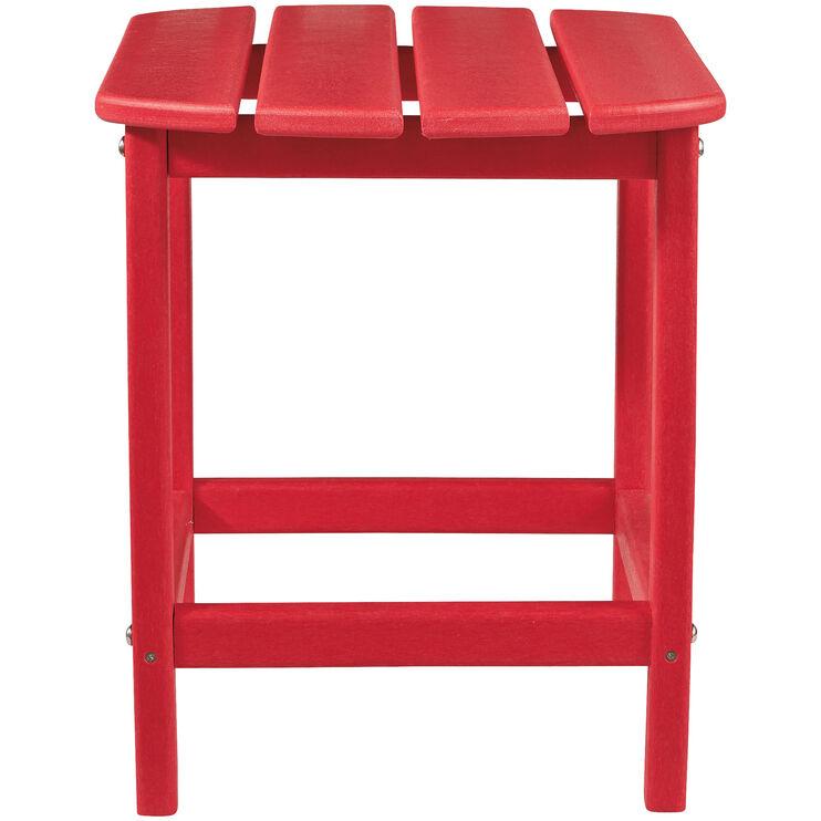 Sundown Red End Table