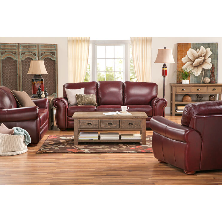 Slumberland Furniture Gallery Burgundy Sofa