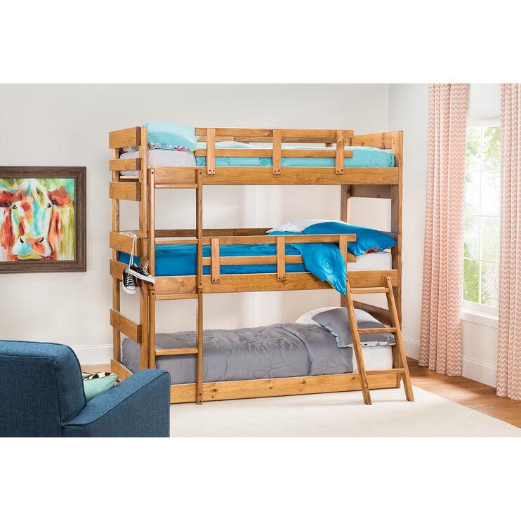 Heartland Honey Triple Bunk Bed