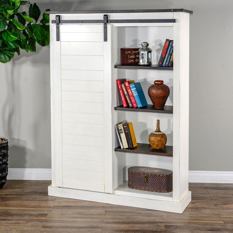 Sante Fe Cottage Barn Door Bookcase