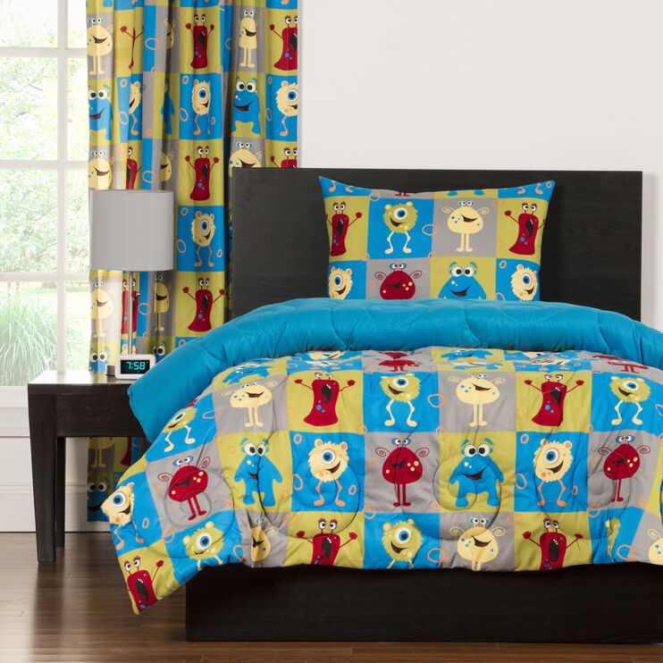 Crayola Monster Friends 3 Piece Full/Queen Comforter Set
