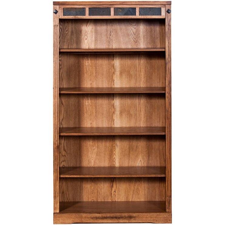Sante Fe 60 Inch Rustic Oak Bookcase