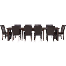 Kona 11 Piece Parson Chair Raisin Dining Set
