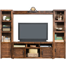 Sausalito Brown 4 Piece Media Center