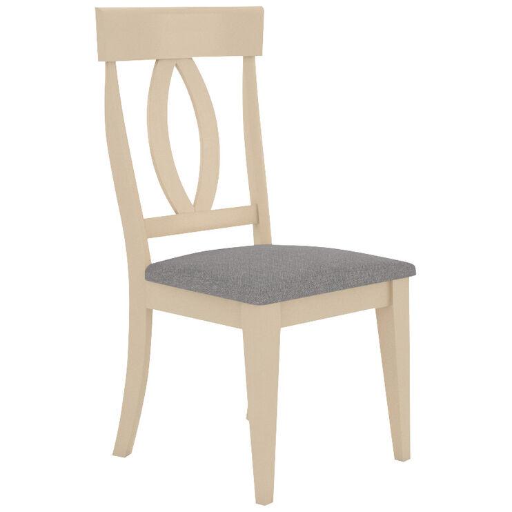 Kirkland Linen County White Upholstered Splat Back Chair