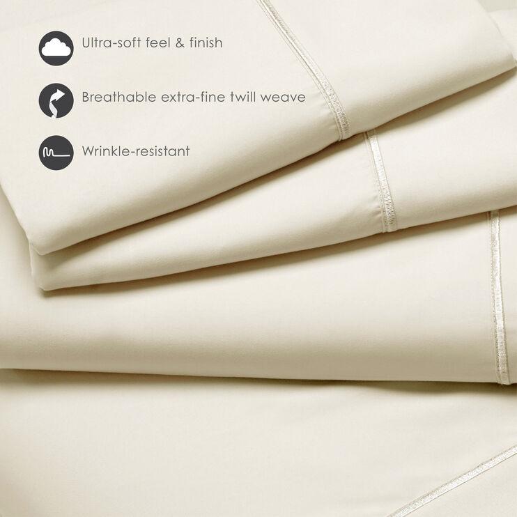 Fabrictech Dove Gray Queen Luxury Microfiber Sheet Set
