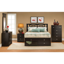 Tyler Merlot 4 Piece Storage Bed Package