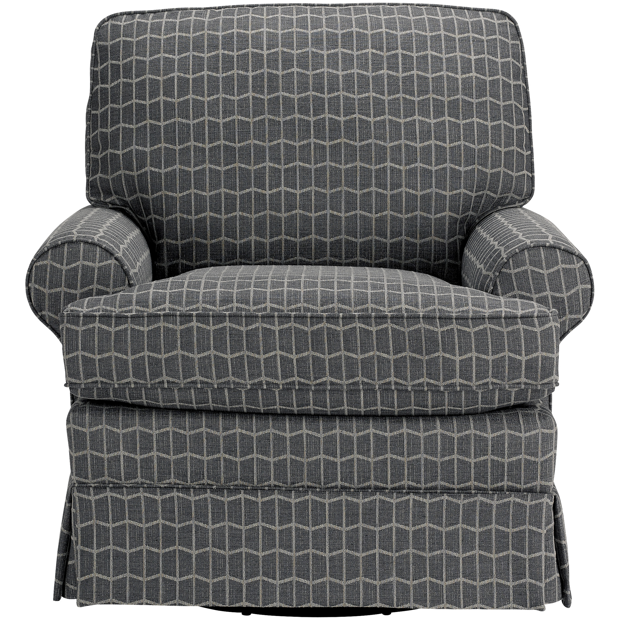 Best Home Furnishings | Quinn Charcoal Swivel Glider Accent Chair