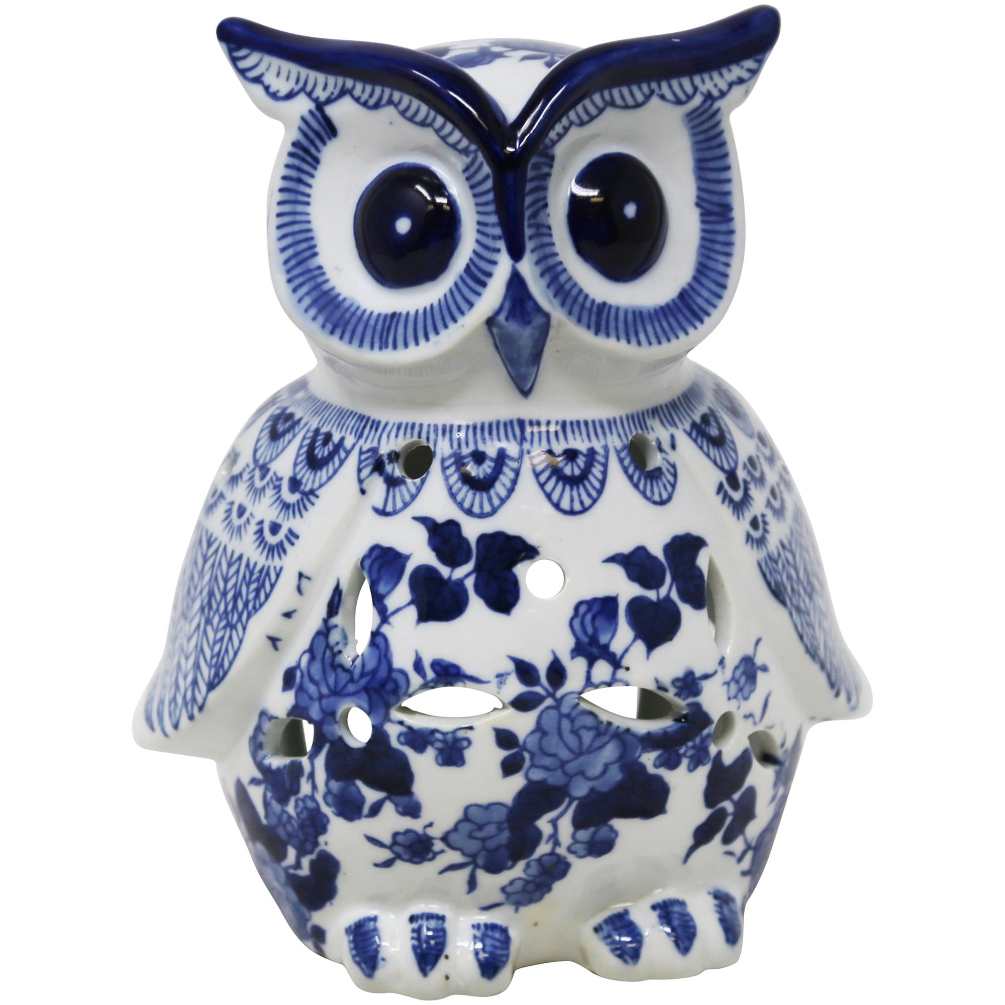 Sagebrook | Copper Ranch Blue Ceramic Owl