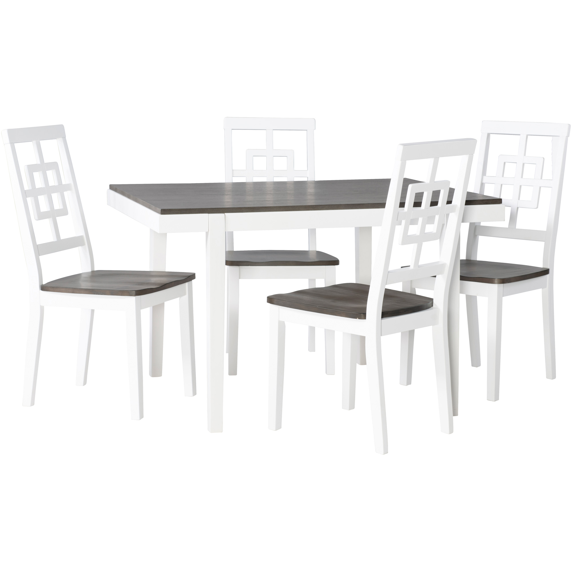 Powell | Lehigh Gray and White 5 Piece Dining Set